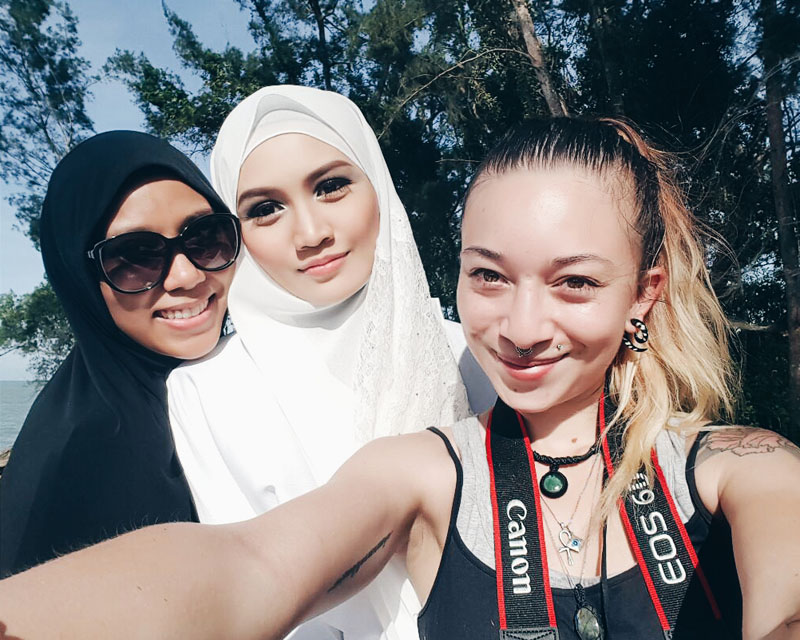Photoshoot for Brunei Islamic Fashion with Mia Suria, Bash Harry and Victoria Crane