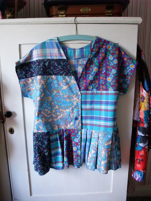 upcycled patchwork top by karen vallerius