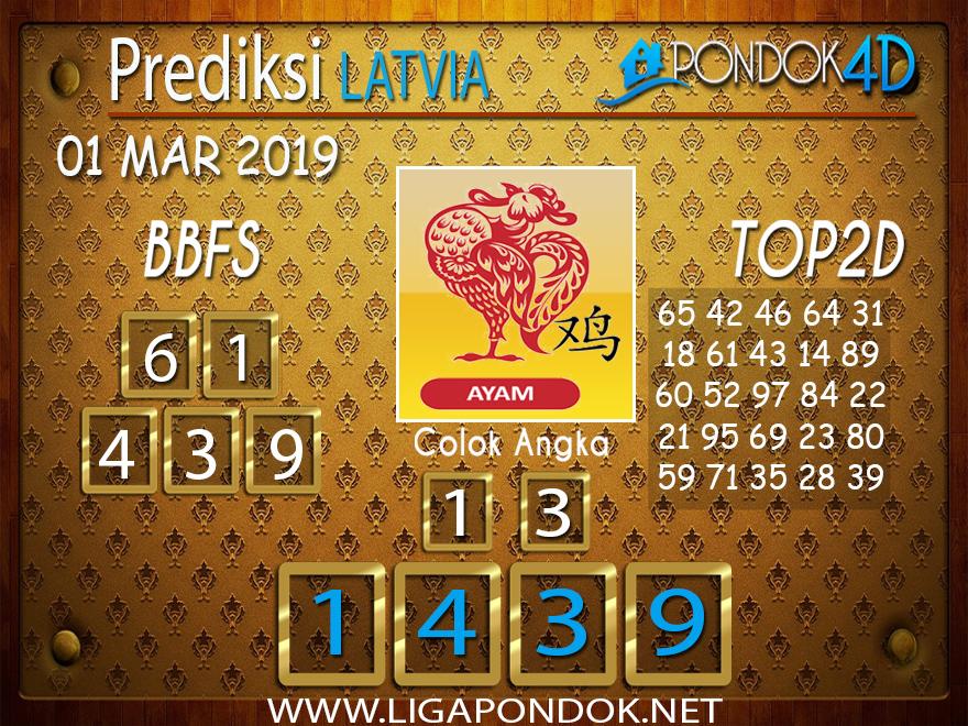 Togel LATVIA PONDOK4D 01 MARET 2019