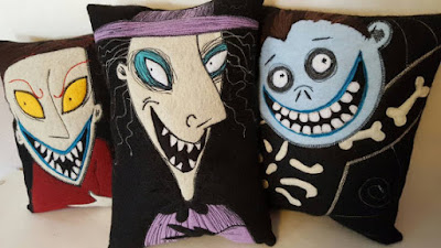 Goth Shopaholic: Hand Stitched Nightmare Before Christmas Pillows ...