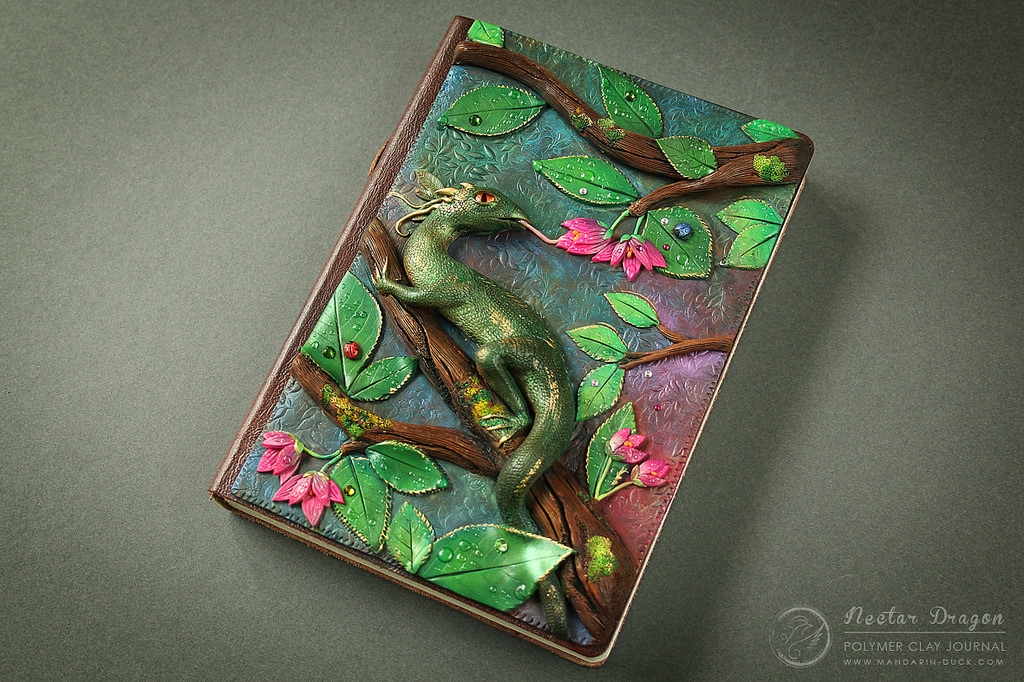 17-The-Water-Dragon-Aniko-Kolesnikova-Polymer-Clay-Book-Diary-and-Electronics-Cover-www-designstack-co