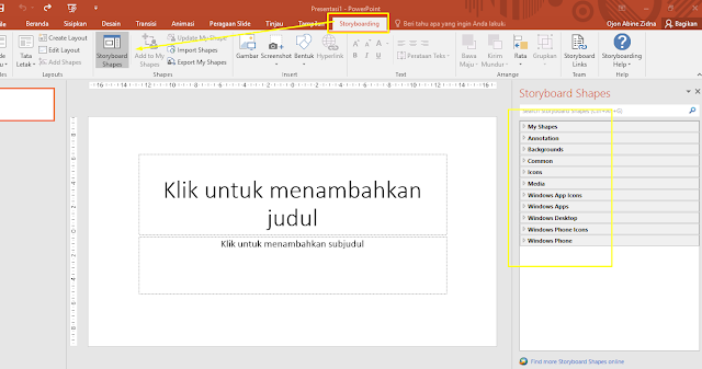 Storyboard di powerpoint