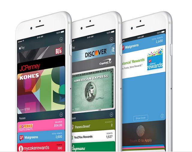 Gambar tampilan Wallet pada iOS 9 terbaru