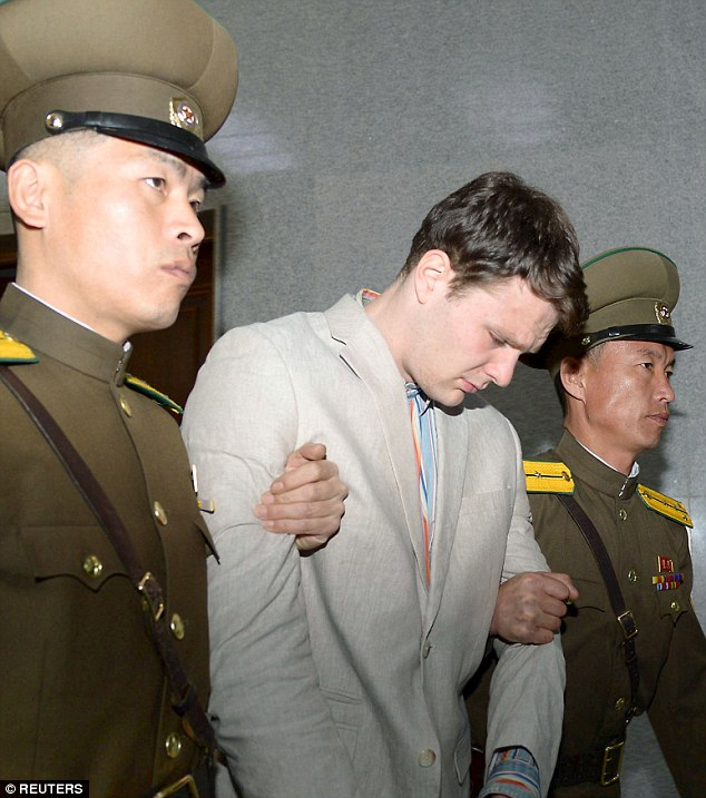 photo of USA student Otto Warmbier jailed 15 years in North Korea