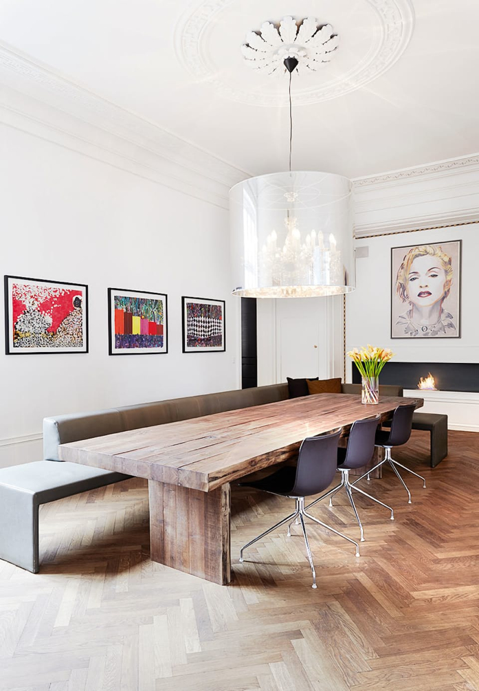 Optimize seating by adding a banquet in dining room