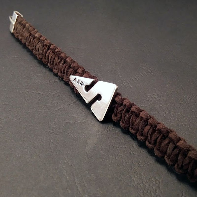 MEN'S SILVER BRACELET CAVE ARROW