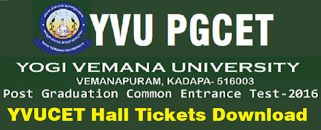 yvupgcet 2019 hall tickets,exam dates,hall tickets from www.yvudoa.in,yvupgcet results 2019,rank cards,counselling dates,certificates verification