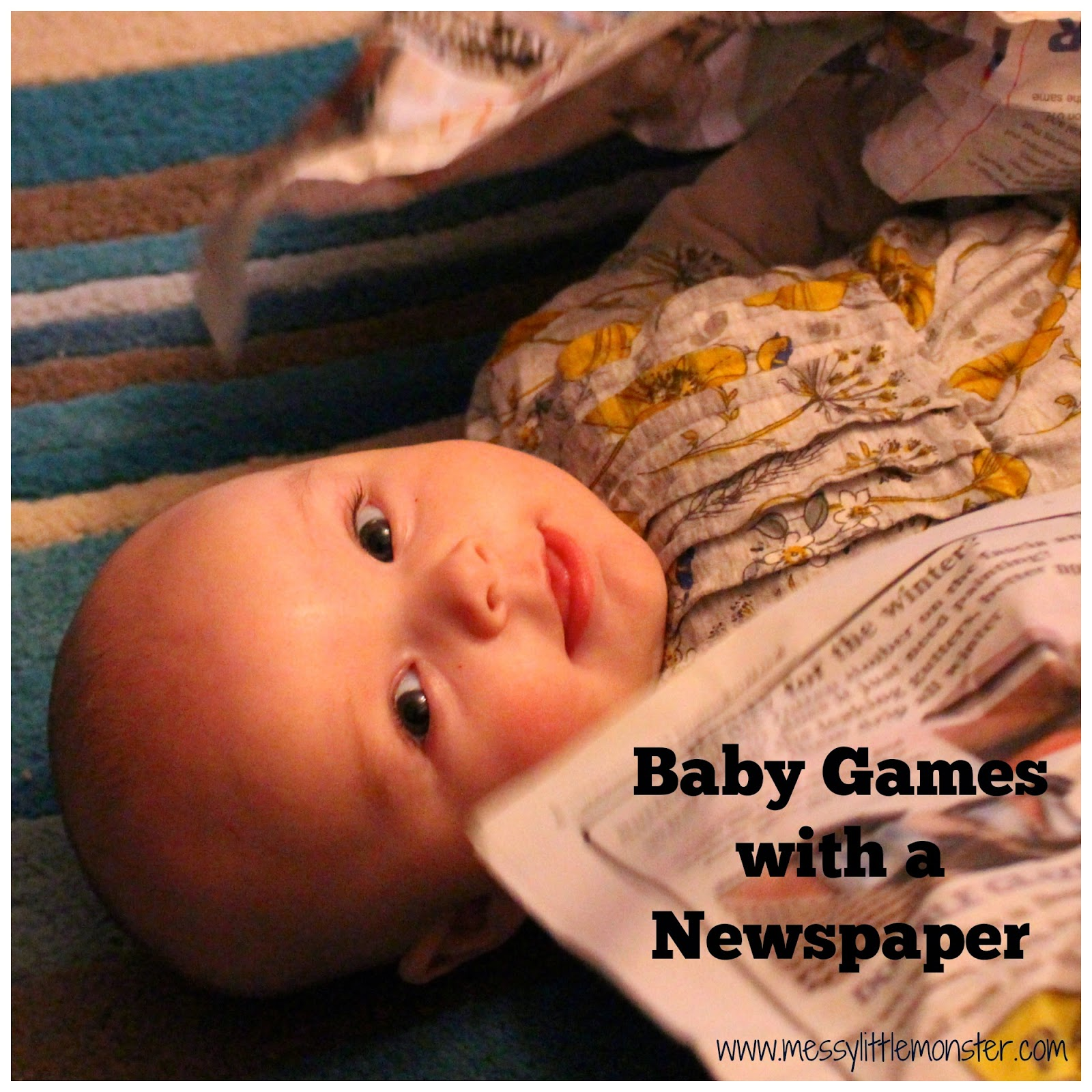 Baby Games With A Newspaper