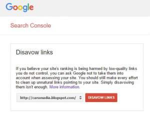 cara disavow link di blog