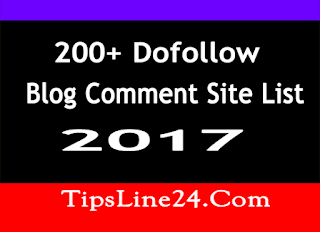 200 Dofollow Blog Comment Site list 2017