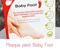 masque pieds baby foot