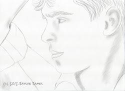 efron zac pencil gazing drawings