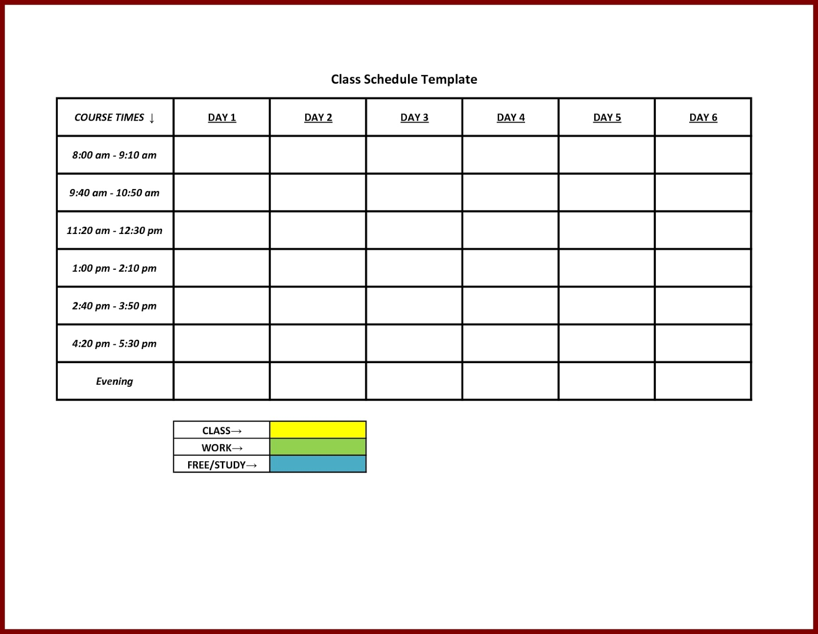 microsoft schedule template ms excel weekly college tasks schedule