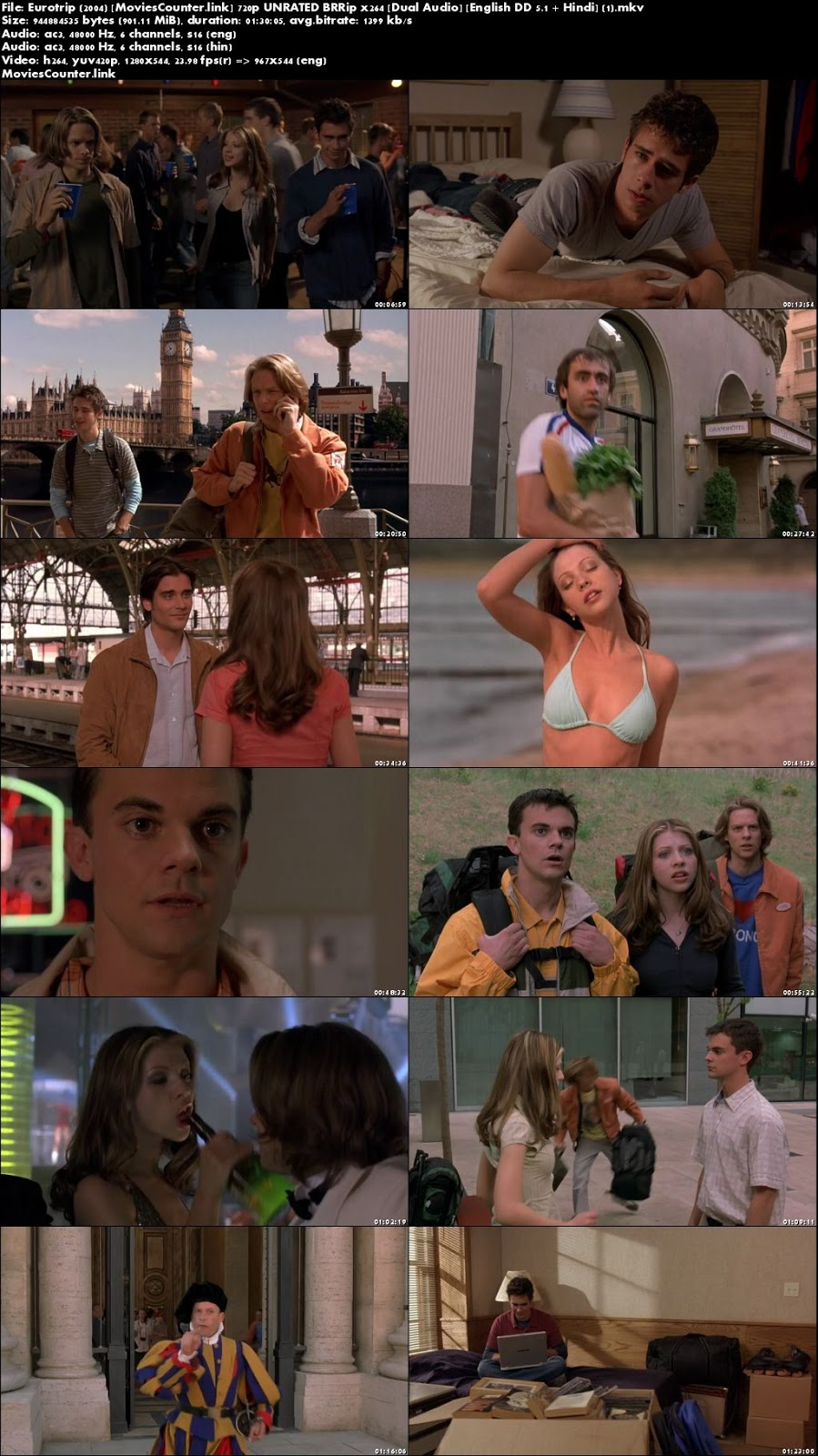 Screen Shots EuroTrip 2004 Dual Audio HD 1080p