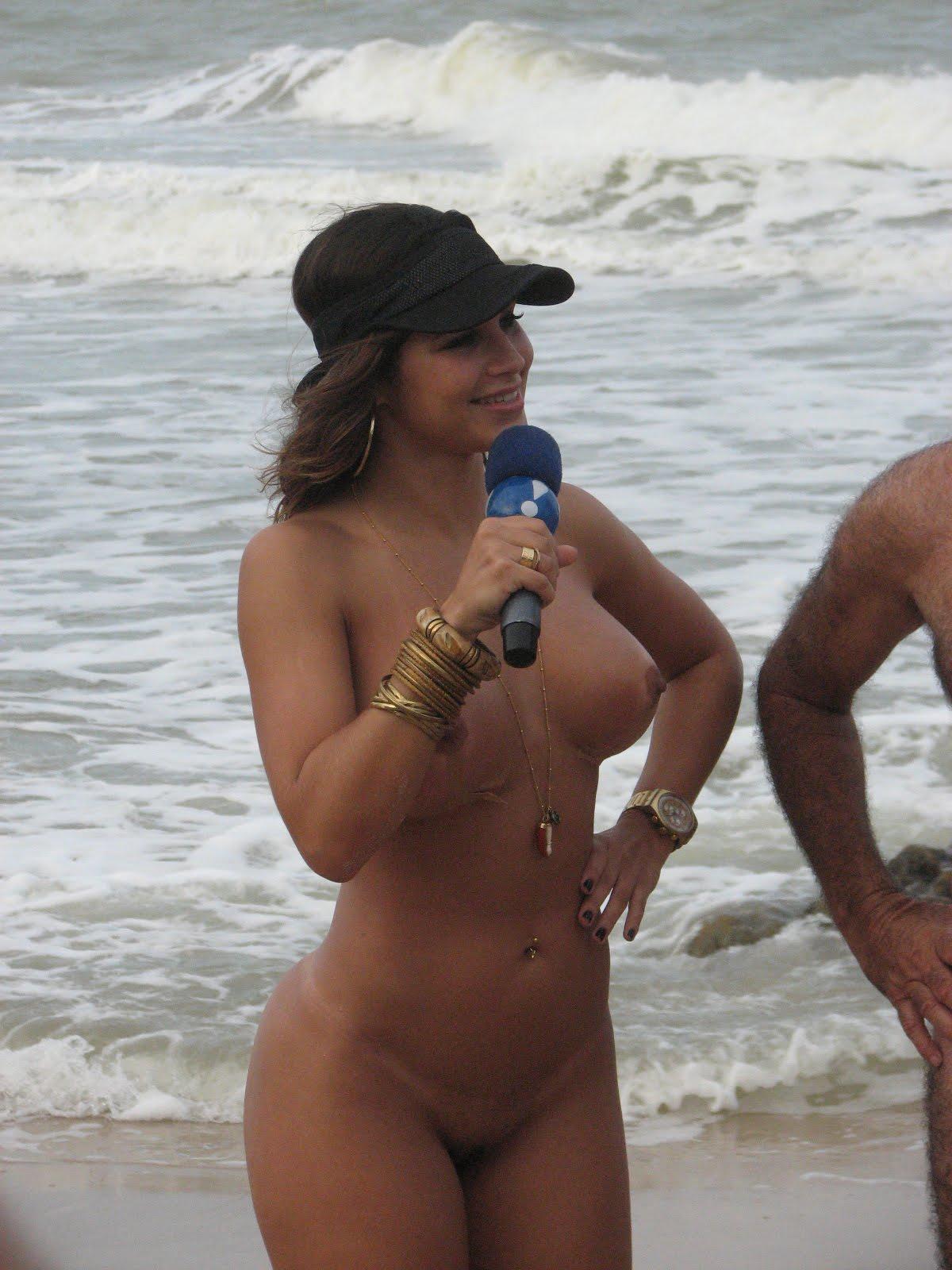 Topless reporter sex