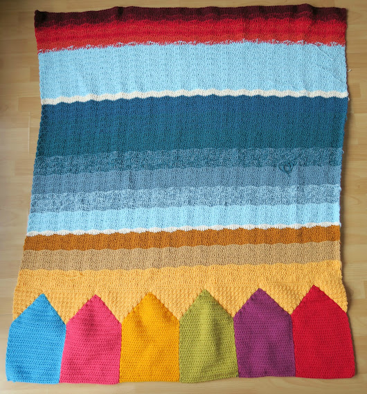 Work in Progress: Winter on Spiekeroog Blanket