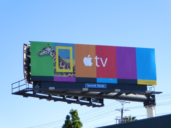 Apple TV National Geographic Giraffe billboard
