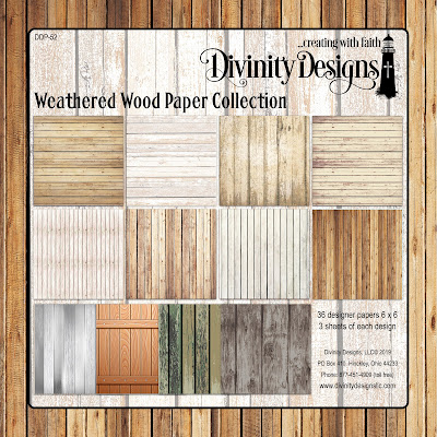 Divinity Designs Paper Collection: Weathered Wood