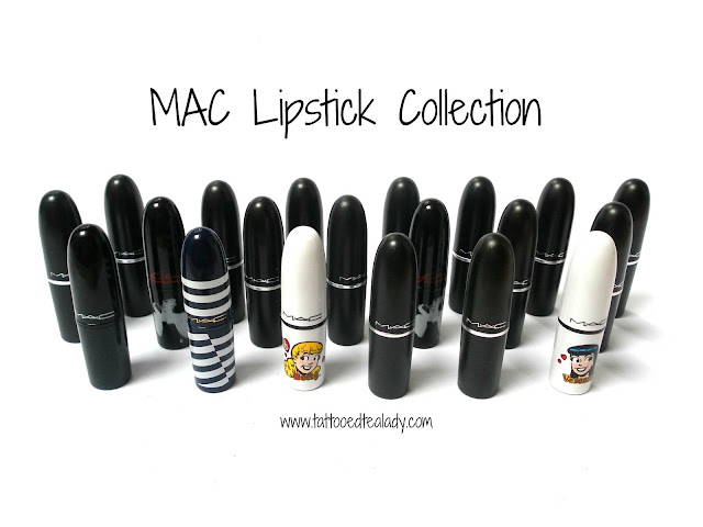 A picture of a MAC Lipstick Collection