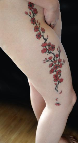 Tatouage Cerisier Japonais