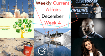 Weekly Current Affairs December: Week 4