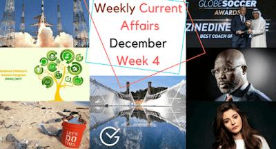 Weekly Current Affairs December: Week 4