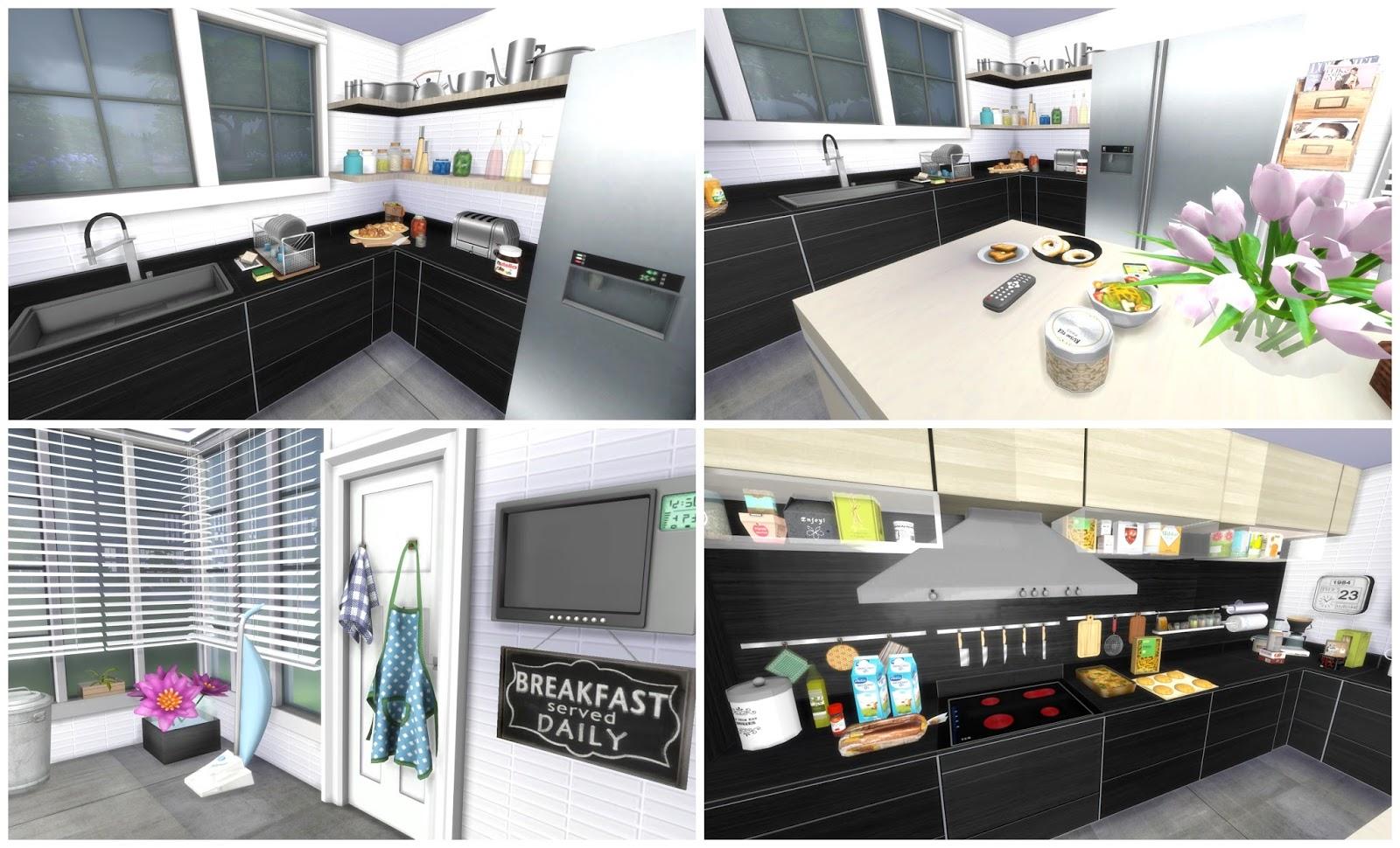 Sims 4 modern kitchen dinha for Modern kitchen sims 3