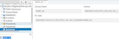 Synonyms in HANA XS Advanced, Configuration, Templating, Service Replacement