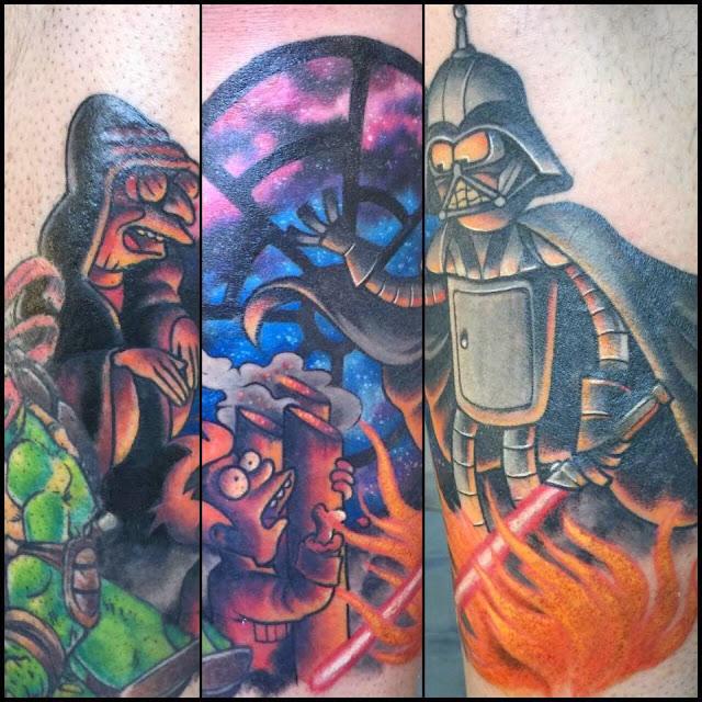 Futurama Star Wars cross over tattoo
