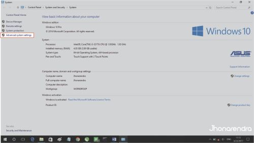 Menginstal Java di Windows 10 advance