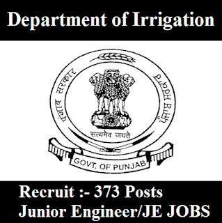 Department of Irrigation, Punjab, JE, Junior Engineer, Graduation, freejobalert, Sarkari Naukri, Latest Jobs, dept. of irrigarion logo