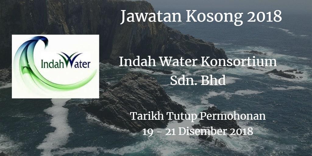 Jawatan Kosong Indah Water Konsortium Sdn. Bhd 19 - 21 Disember 2018