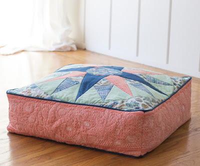 Mariners Compass Floor Cushion Paper Piecing Tutorial