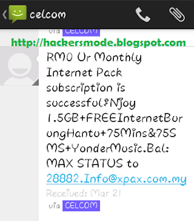 celcom unlimited internet
