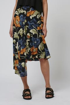 Floral asymmetric skirt, $68 from Topshop