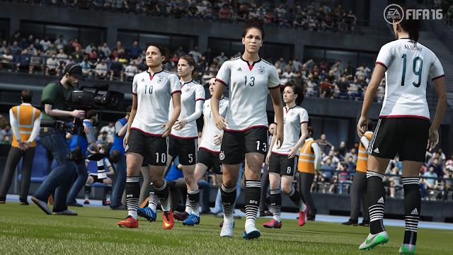FIFA 16 entrada al campo de equipo femenino
