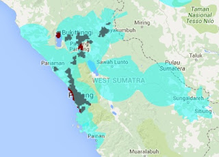 Jangkauan Sinyal Smartfren 4G LTE dan EVDO REV B Sumatera Barat