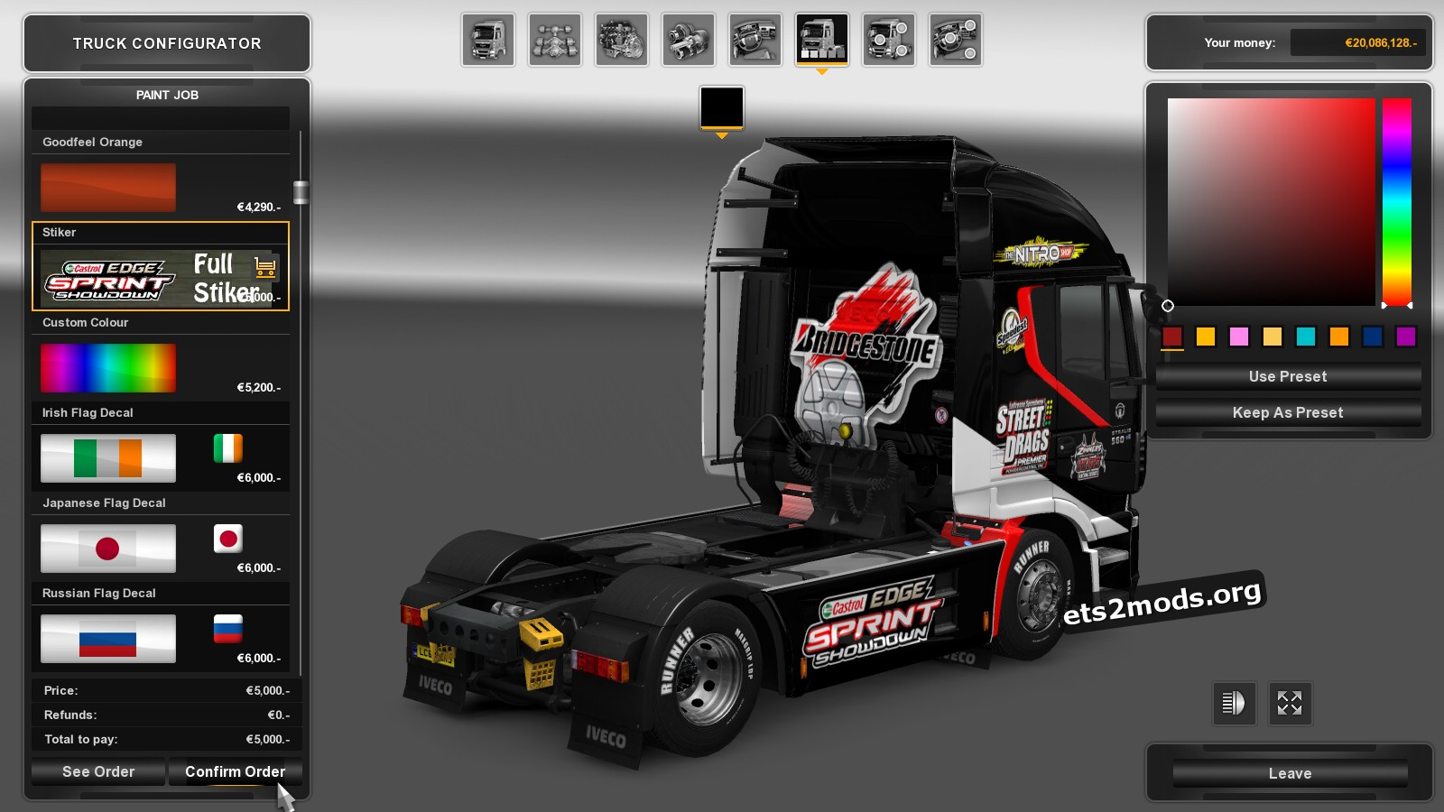 Iveco Hi Way Racing Skin