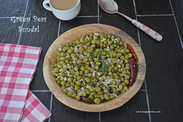 Patani Sundal Recipe| Green Peas sundal | Easy Evening Snack Ideas