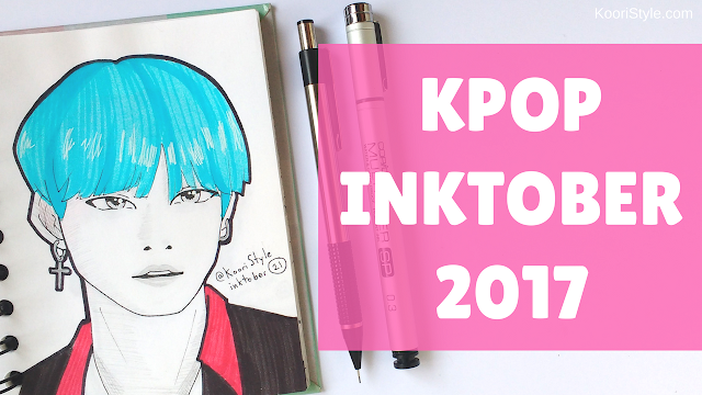 Koori Style, KooriStyle, Kpop, Inktober 2017, Flip Through, Inktober, BTS, VIXX, EXO, SuJu, Super Junior, Wheesung, SHINee, Dibujos, Dibujo, Drawing, Drawings, Ink, Reto ,Challenge