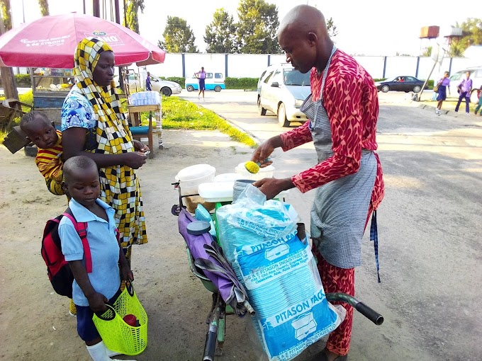 Meet psychology graduate that makes N10,000 daily as food vendor in Delta [PHOTOS]
