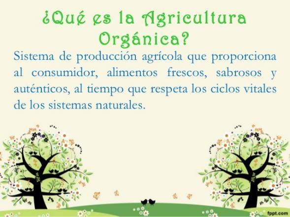 que es la agricultura ecológica