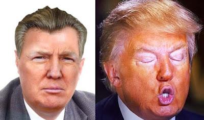 Resultado de imagen de Foto de Trump con el pelo naranja