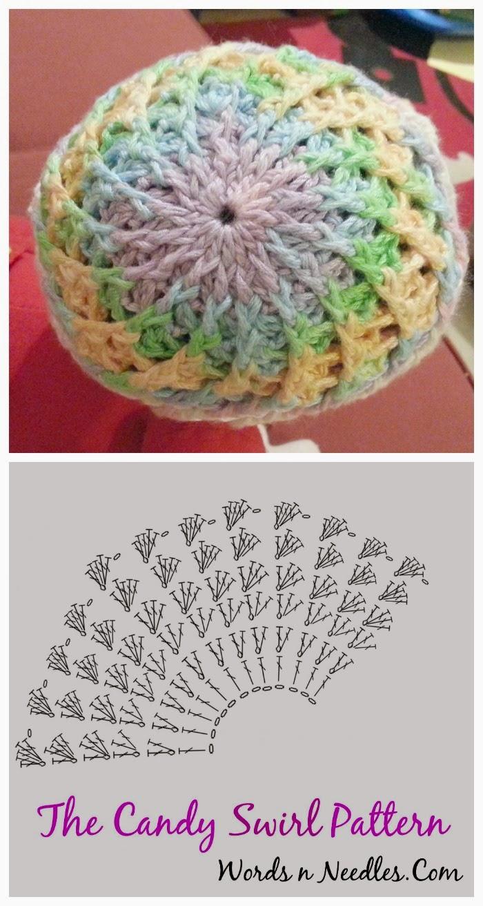 Candy Swirl Crochet Hat Pattern - Jeddah Mom