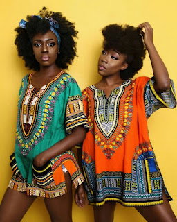 Beverly Twins Looking Beautifully In Matching Dashiki Attires