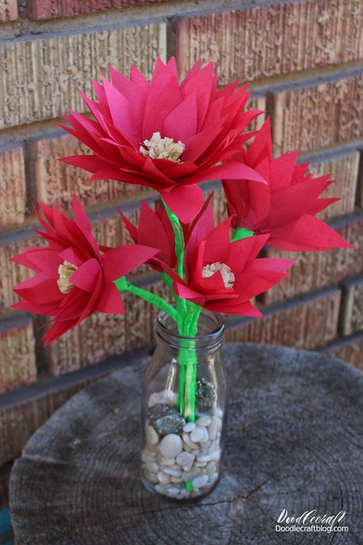 Doodlecraft Diy Tissue Paper Poinsettia Centerpiece