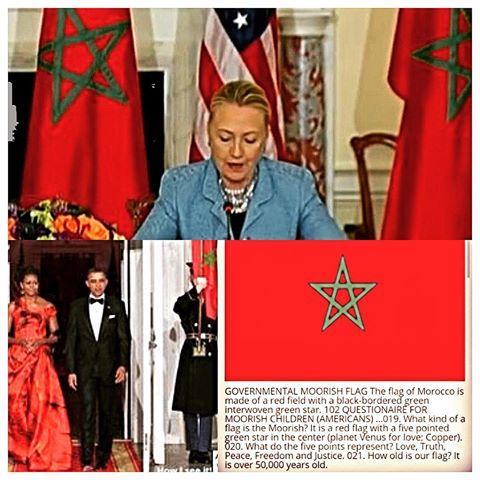 us president, morocco flag