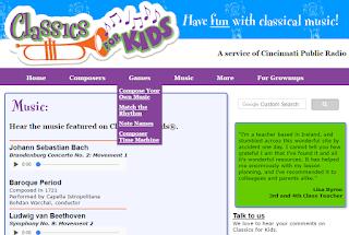 Classic for Kids - web música clásica para niños