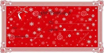 Blank Christmas Gift Certificate Templates Free Vghek