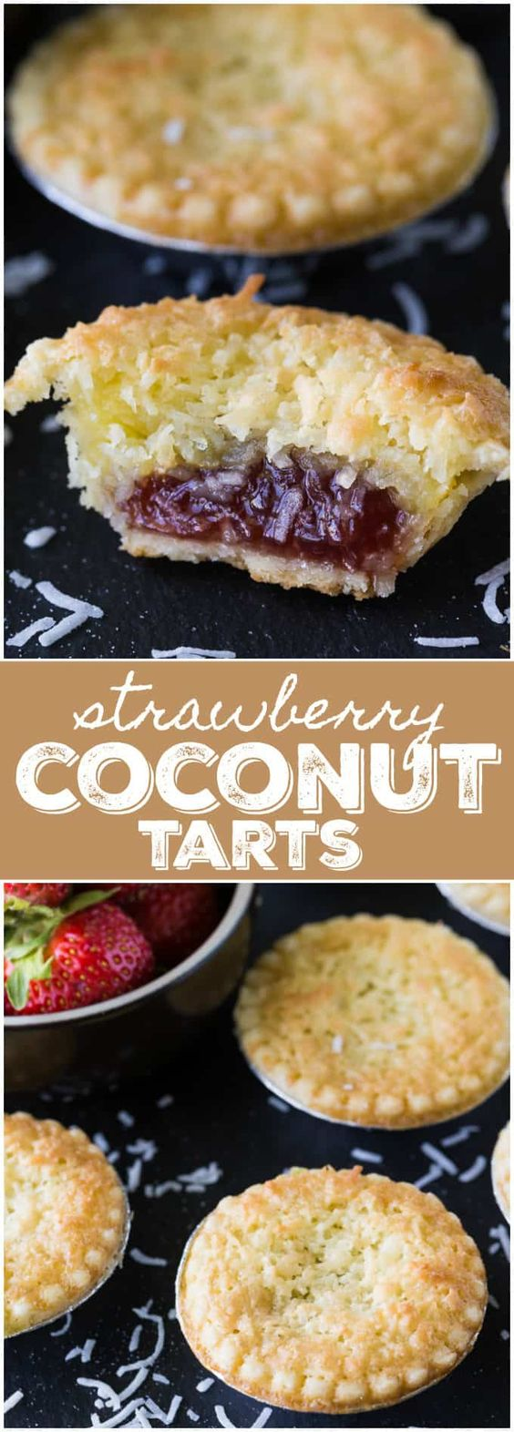 Strawberry Coconut Tarts
